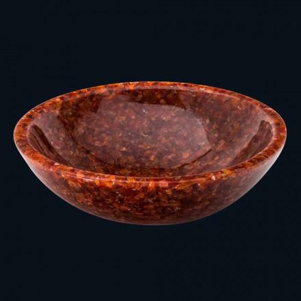 Lavabo à poser rond en résine de synthèse et pierre cornaline Nube