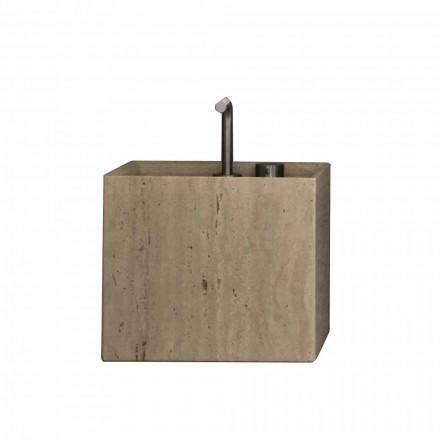 Lavabo de salle de bain en pierre de conception carrée moderne - Farartlav2