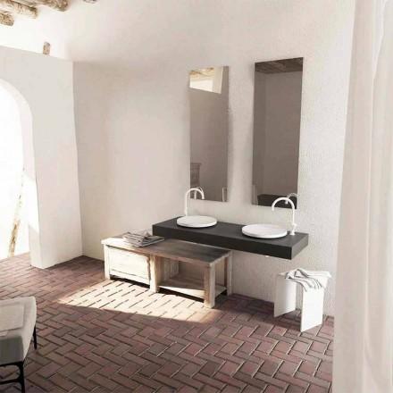 Vasque à poser ronde de salle de bain, modèle  Crema de design moderne