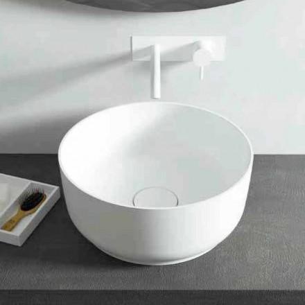 Lavabo rond salle de bain design italien Dalmine, fabriqué en Italie
