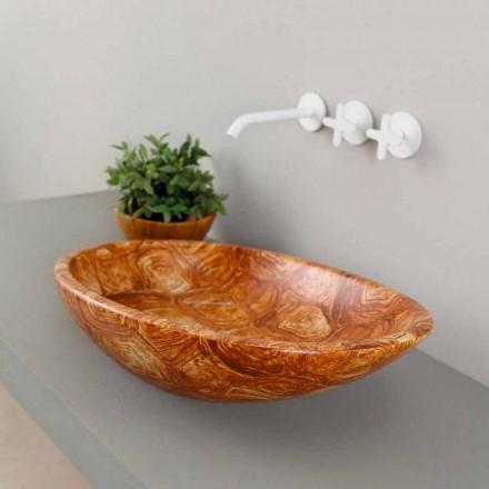 Lavabo de design d'appui céramique tortue, fait en Italie, Glossy