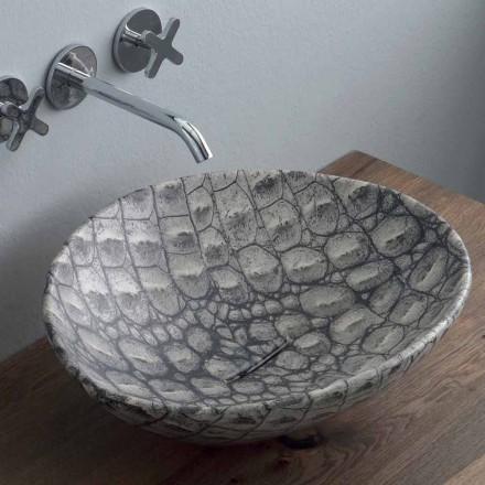 Lavabo à poser en céramique design fabriqué en Italie Animaux