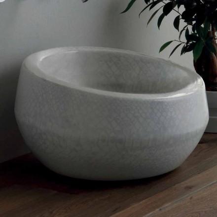 Lavabo à poser design en céramique python fabriqué en Italie Elisa