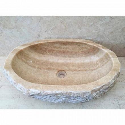Vasque à poser design pour la salle de bain Laia en pierre naturelle