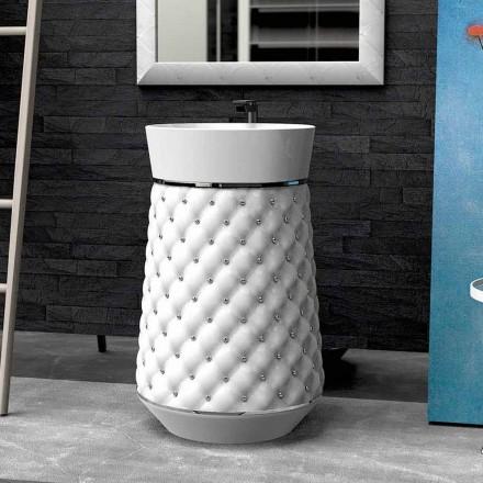 Lavabo sur colonne de design moderne fait en Solid Surface® Elizabeth