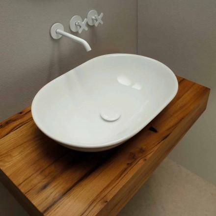 Lavabo en céramique de design moderne d'appui, fait en Italie
