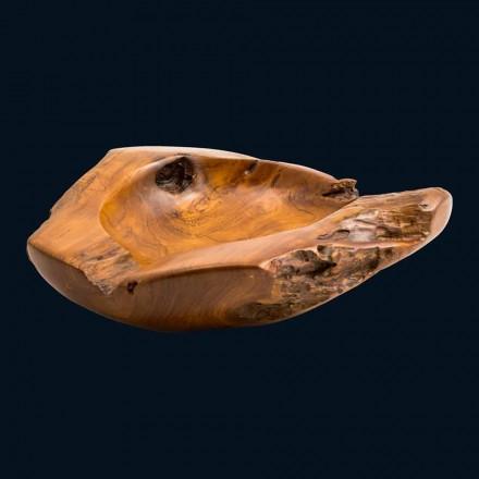Lavabo à poser en bois de teck Nemo, fait main