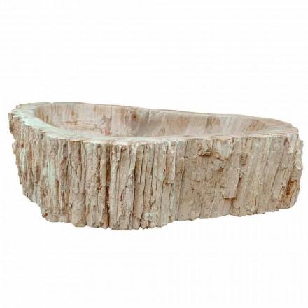 Lavabo en bois fossilisé Goa