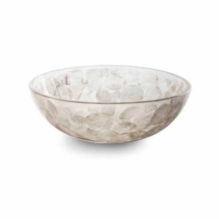 Vasque à poser en résine avec inserts modernes en nacre - Salvatore