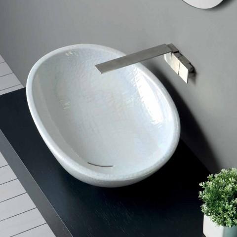 Lavabo en nacre avec un design italien moderne brillant