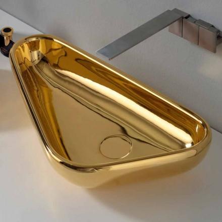 Lavabo à poser moderne en céramique dorée fabriqué en Italie à Sofia