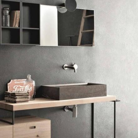 Vasque à poser rectangulaire et moderne en pierre design - Farartlav3