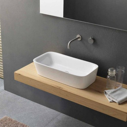 Lavabo à poser rectangulaire moderne au design céramique - Lipperialav1