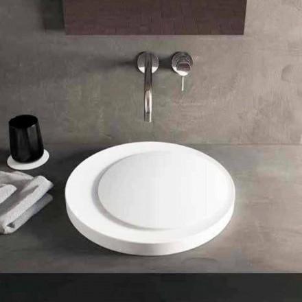Vasque ronde de salle de bain, à poser, en Luxolid Solid Surface Crema