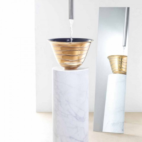 Marcello, un comptoir moderne en grès cérame fabriqué en Italie