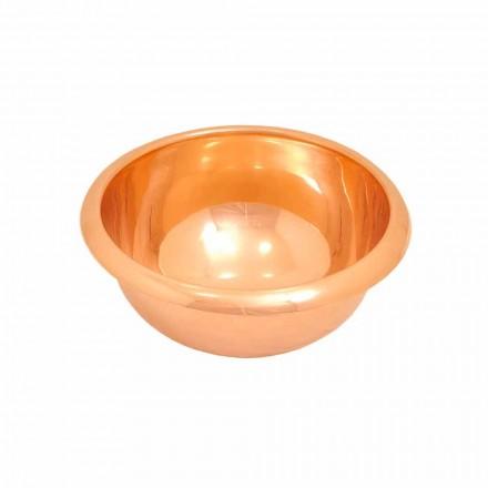 Vasque lavabo à poser en cuivre, faite à la main, Alba