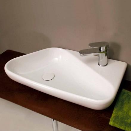 Lavabo d'appui/suspension de design céramique fait en Italie Sheyla