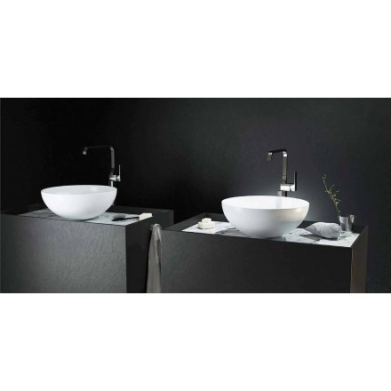 Lavabo circulaire à poser made in Italy modèle Donnas , design moderne