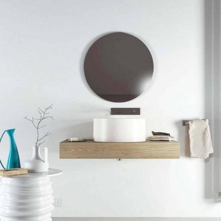 Vasque à poser ronde de design fabriquée en Italie modèle Forino