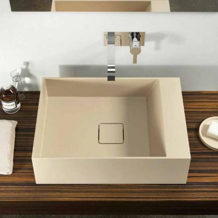 Lavabo à poser Lavis fait en Italie de design moderne en Luxolid