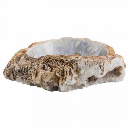 Lavabo à poser fait main en pierre d'agate, Posina, pièce unique