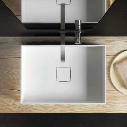 Lavabo de design moderne modèle Lavis, à poser, fabriqué en Italie