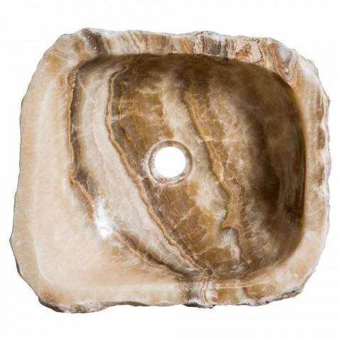 Évier de comptoir moderne en pierre d'onyx à la main, Buttrio