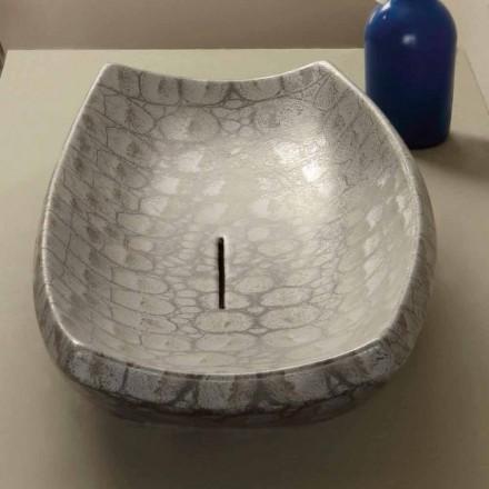 Lavabo d'appui de design en céramique caïman, fait en Italie Laura