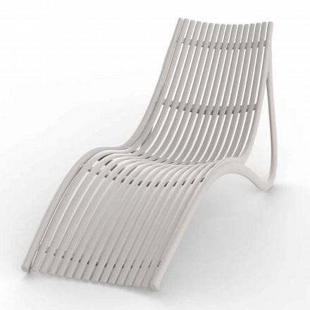 Chaise longue d'extérieur au design blanc ou écru, 4 pièces - Ibiza par Vondom