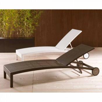 Lit avec dossier réglable et roues Sun Bed