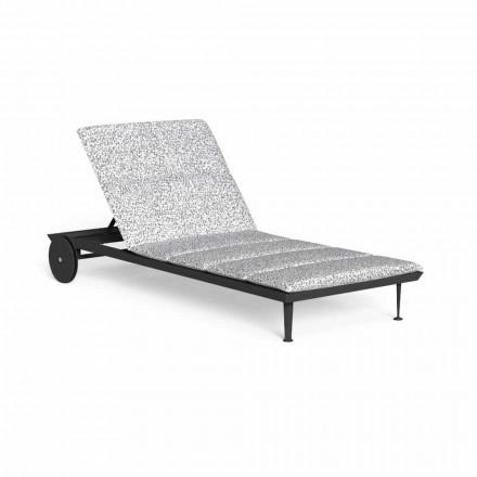 Chaise longue de jardin inclinable avec roues de luxe - Cruise Alu par Talenti