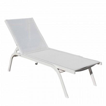 Chaise longue de jardin en aluminium précieux fabriqué en Italie, 2 pièces - Moyra