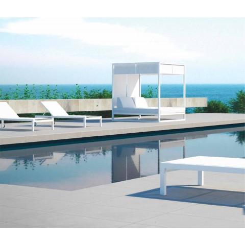 Bain de soleil en aluminium au design moderne avec roues - Danubio2