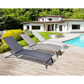 Bain de soleil design à roulettes pour chaise longue de jardin d'extérieur - Osvaldo