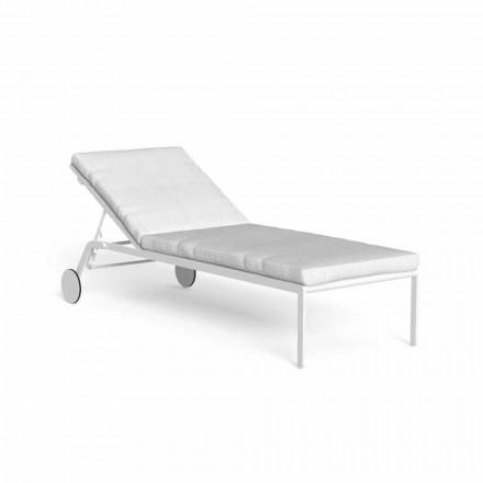Chaise longue de jardin inclinable avec roues en aluminium - Riviera par Talenti