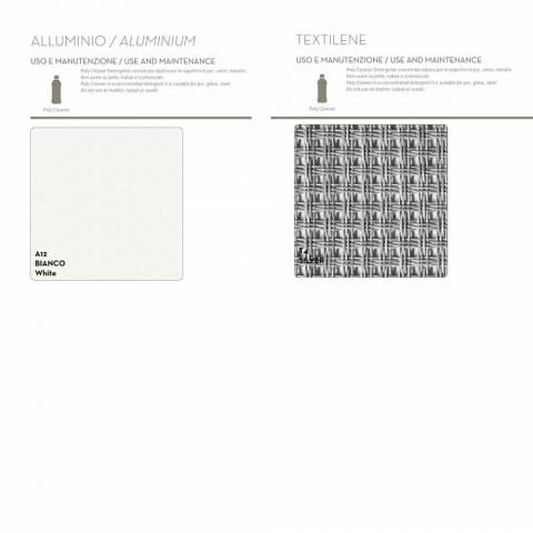 Bain de soleil d'extérieur design Kot blanc-gris ou gris tourterelle