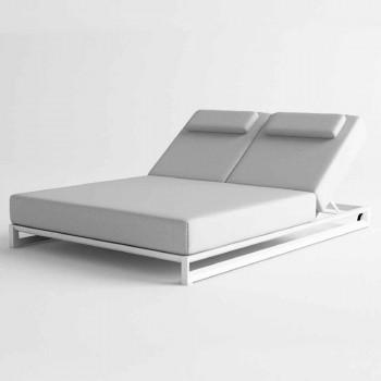 Bain de soleil double extérieur en aluminium et toile - Gioacchino