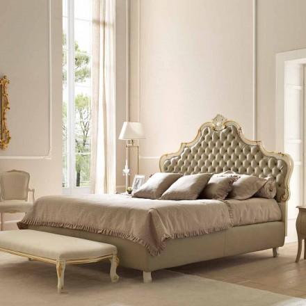 Lit double avec conteneur de lit, design classique, Chantal by Bolzan