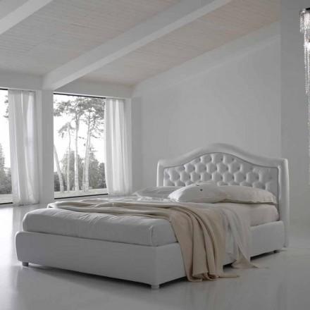 Lit double sans coffre, design classique, Capri by Bolzan