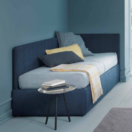 Lit simple, avec tête de lit d'angle et panneau latéral Line 4 Bolzan
