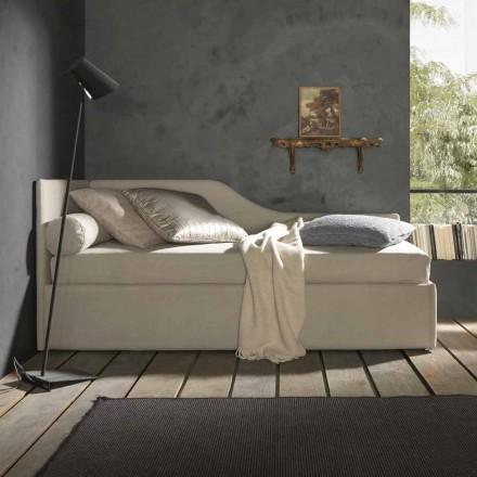 Lit simple avec tête de lit et panneau latéral profilé, Line 8 Bolzan