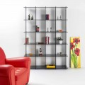 Bibliothèque de design moderne en plexiglas fumé Sfera4