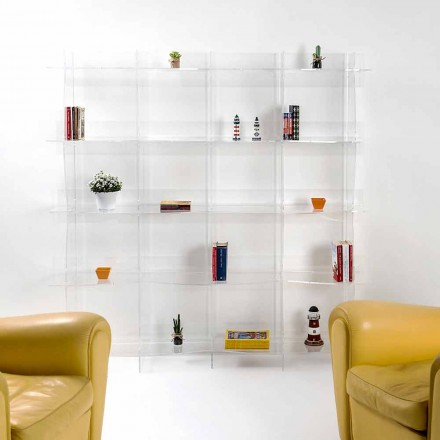 Bibliothèque transparente de design moderne Pam