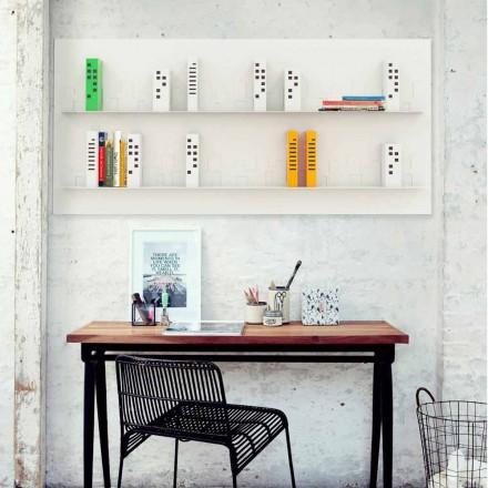 Bibliothèque murale de design moderne Skyline 186x86 cm