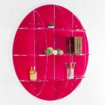Bibliothèque murale en plexiglas coloré fabriqué en Italie, Giofora