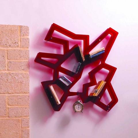 Bibliothèque murale modulaire métal chromé et le méthacrylate de Heddy