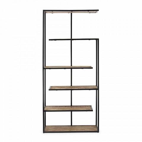 Bibliothèque de plancher avec structure en acier peint Homemotion - Borino