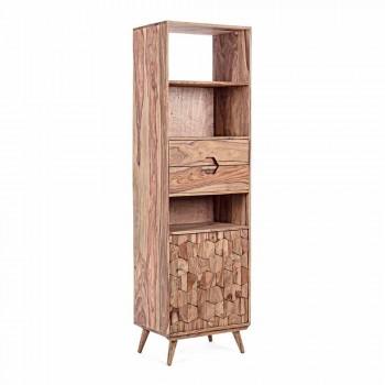 Bibliothèque au sol avec structure en bois Design Vintage Homemotion - Ventador
