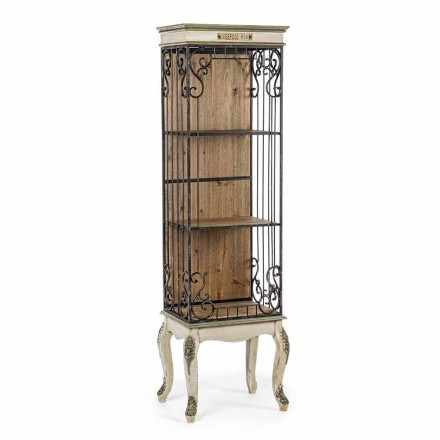 Bibliothèque de sol design classique en bois et acier Homemotion - Verena