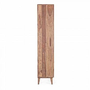 Bibliothèque de sol design vintage en bois et acier Homemotion - Ventador